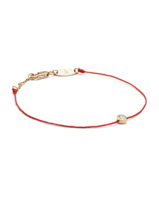 RedLine | Rose Gold And Diamond Pure Bracelet With Red Thread | Lyst