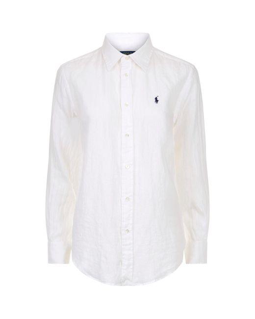 Polo Ralph Lauren - White Linen Shirt for Men - Lyst