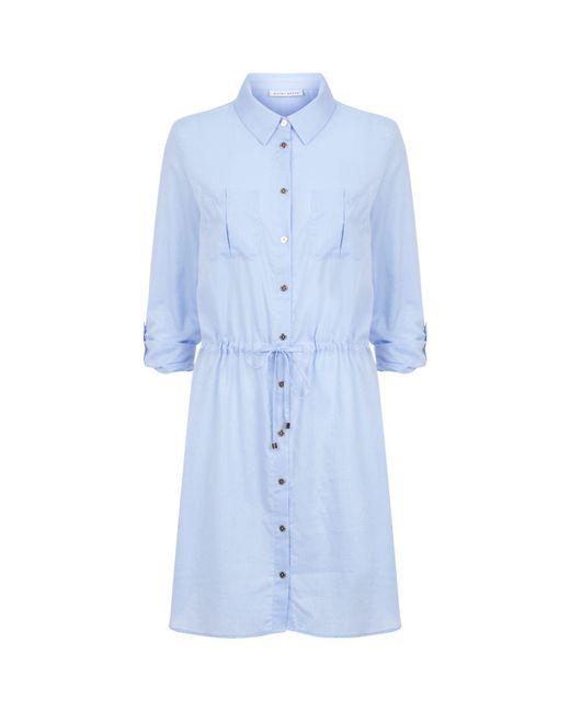 Heidi Klein - Blue Mini Shirt Dress - Lyst