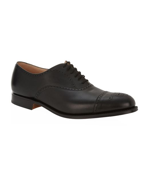 Church's Black Toronto Punched Oxford Shoe for men