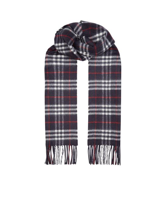 Burberry - Blue Vintage Check Scarf for Men - Lyst