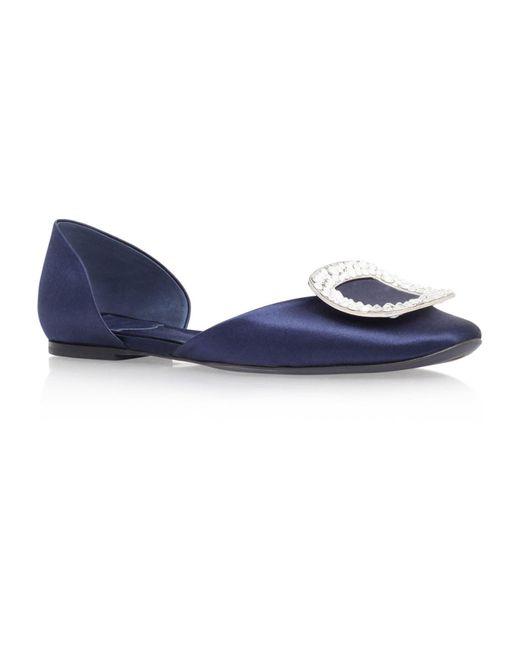 Roger Vivier - Blue Chips Strass Ballerina Flats - Lyst