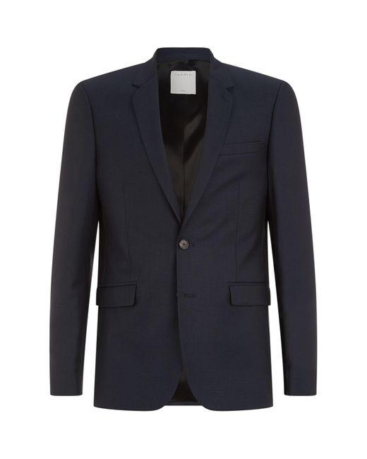 Sandro - Blue Wool Suit Jacket for Men - Lyst