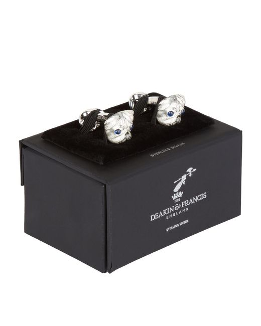 Deakin & Francis - Metallic Pug Head Cufflinks for Men - Lyst