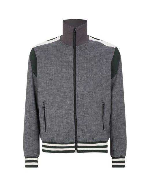 Stella McCartney Blue Contrasting-stripe Bomber Jacket for men