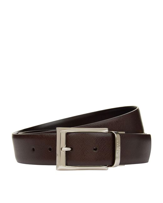 Canali - Black Reversible Leather Belt for Men - Lyst