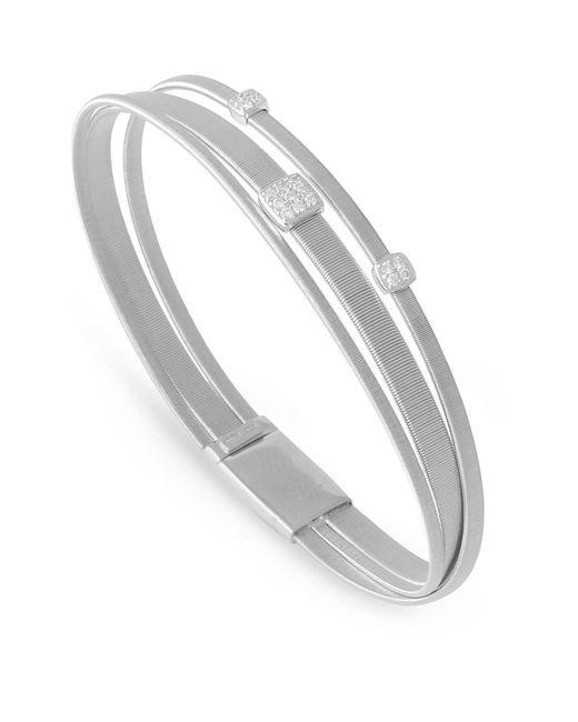 Marco Bicego   White Masai Triple Strand Diamond Bracelet   Lyst