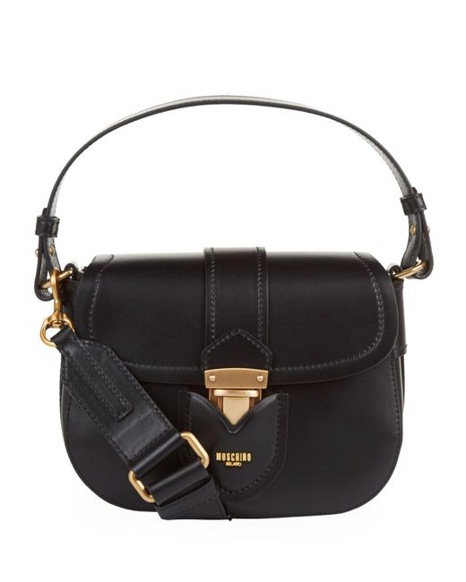 Moschino - Black Logo Cross Body Bag - Lyst
