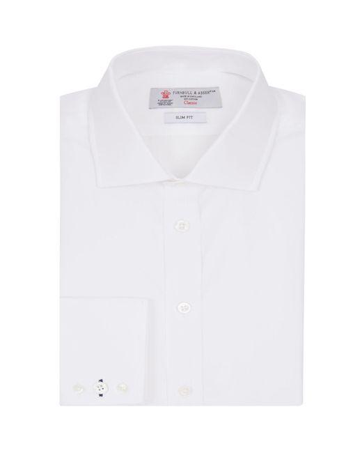 Turnbull & Asser - White Regent Poplin Button Cuff Shirt for Men - Lyst