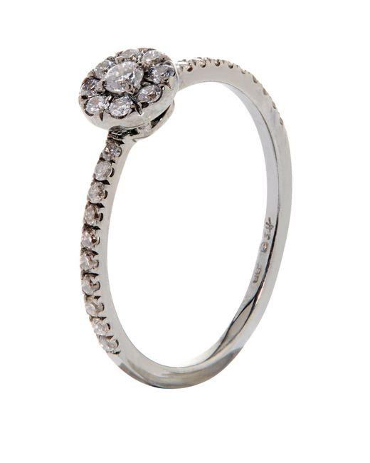 Susan Foster | White Halo Diamond Pinky Ring | Lyst