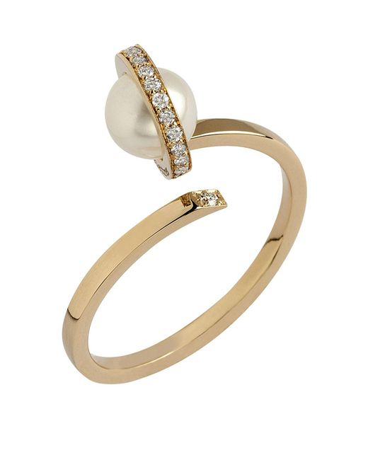 Delfina Delettrez | Metallic Seal Ring With Pearl | Lyst