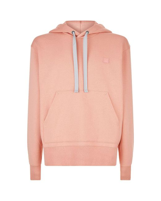 Acne | Pink Ferris Face Patch Hoodie | Lyst