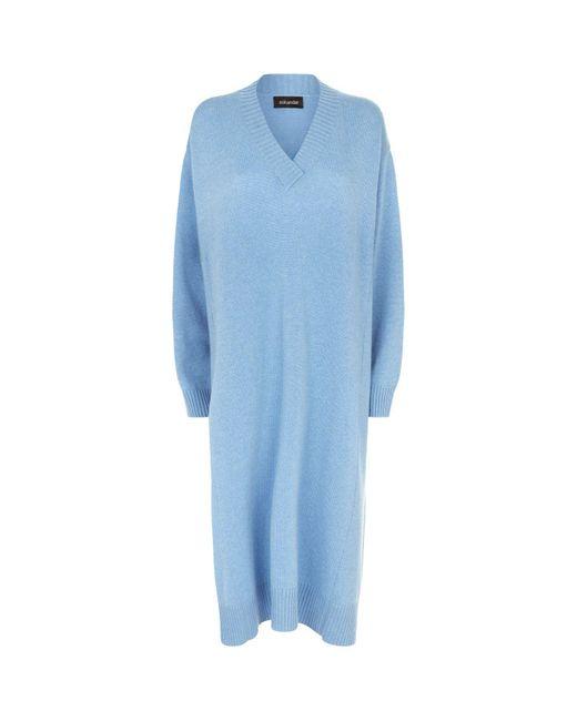 Eskandar - Blue Knitted Sweater Dress - Lyst