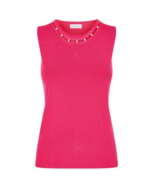 Claudie Pierlot   Pink Pearl Bead Sweater   Lyst