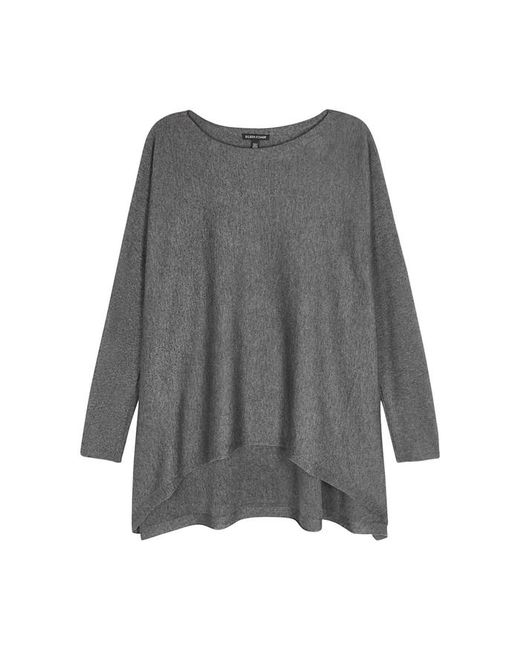 Eileen Fisher | Gray Grey Knitted Jumper | Lyst