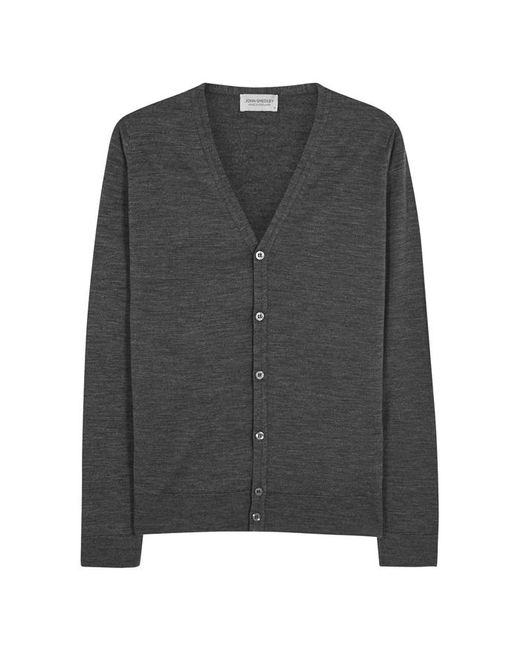 John Smedley - Gray Petworth Charcoal Wool Cardigan - Size M for Men - Lyst