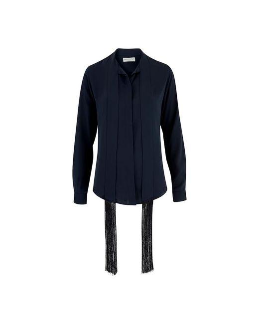 Amanda Wakeley - Blue Sinai Midnight Fringe Shirt - Lyst
