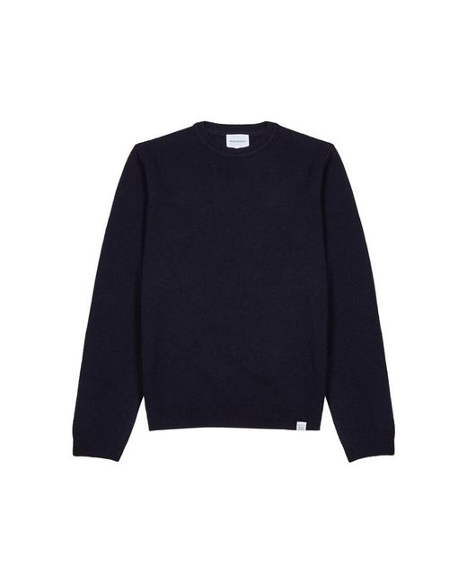 Norse Projects - Blue Sigfred Navy Wool Jumper for Men - Lyst