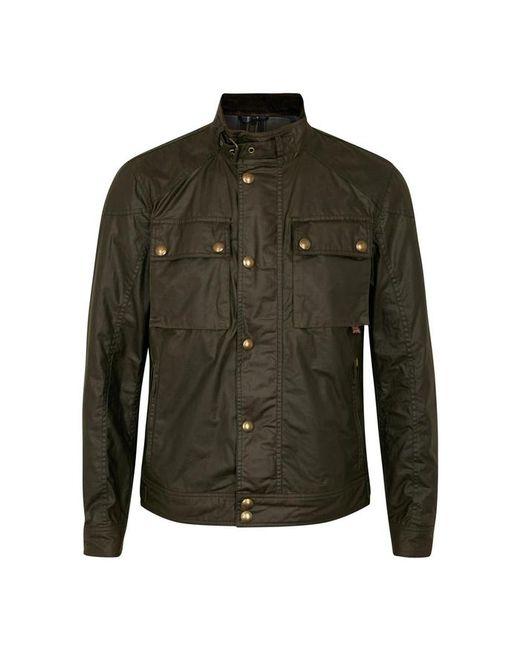 Belstaff - Green Racemaster Olive Coated Cotton Jacket - Size 40 for Men - Lyst