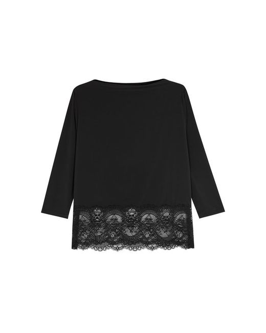 Wacoal | Black Chrystalle Lace-trimmed Pyjama Top | Lyst