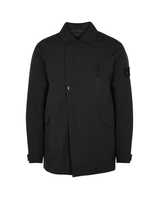 Stone Island - Ghost Tank Shield Black Shell Jacket for Men - Lyst