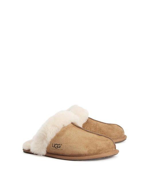 Ugg - Brown Scuffette Ii Chestnut Suede Slippers - Lyst