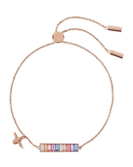 Olivia Burton Metallic Rainbow Bee Gold-plated Bracelet