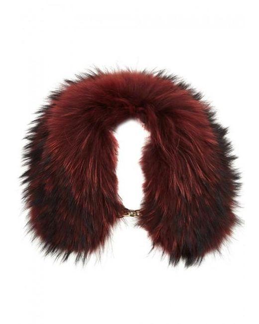 Yves Salomon | Dark Red Fur Collar | Lyst