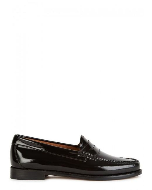G.H. Bass & Co. | Penny Wheel Black Patent Leather Loafers | Lyst