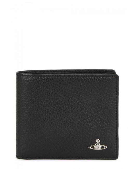 Vivienne Westwood | Black Grained Leather Wallet for Men | Lyst
