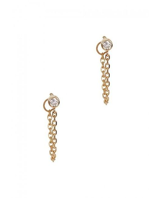 Catbird | Metallic Chained To My Heart 14kt Gold Earrings | Lyst