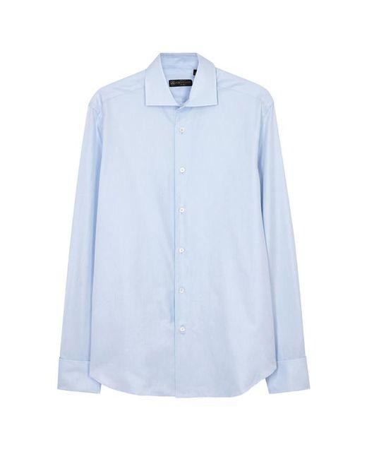 Corneliani - Light Blue Cotton Twill Shirt - Size 16.5 for Men - Lyst