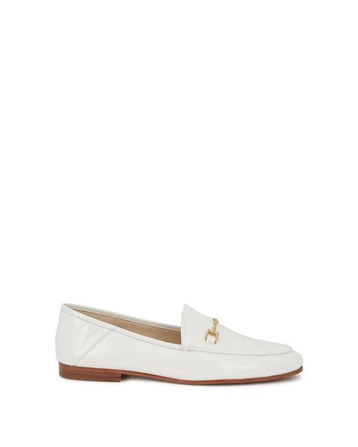 9504d830bd9 Sam Edelman Loraine Loafer White Leather in White - Save 47% - Lyst