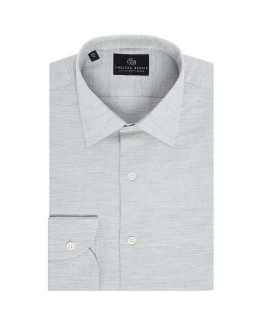 Chester Barrie - Gray Faux Pique Shirt for Men - Lyst