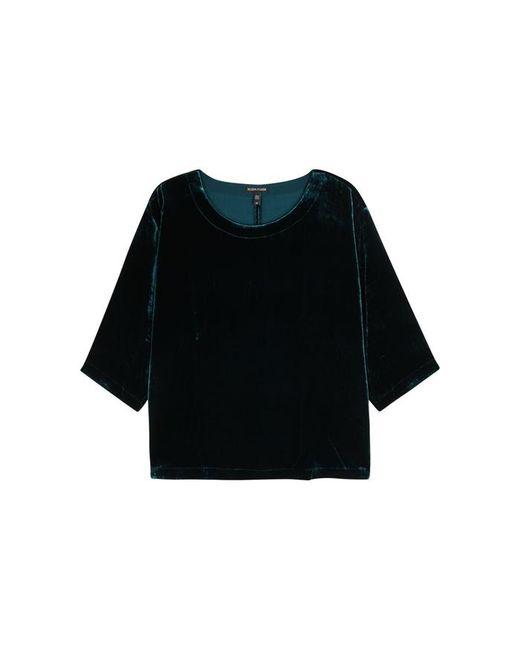Eileen Fisher   Blue Dark Teal Velvet Top   Lyst