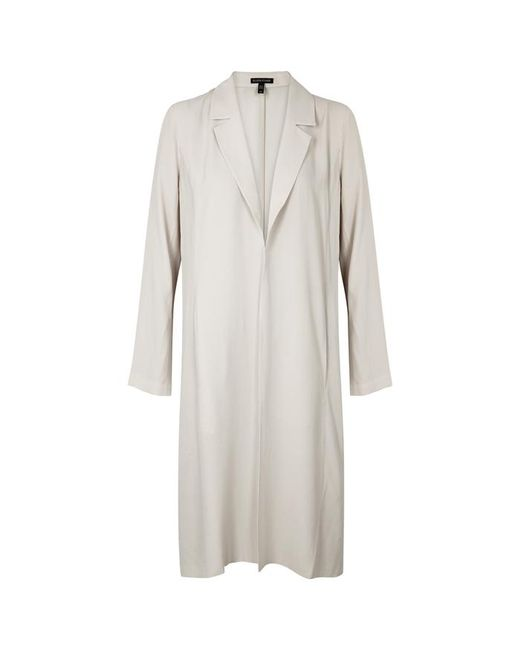 Eileen Fisher - Off-white Washed Silk Jacket - Lyst