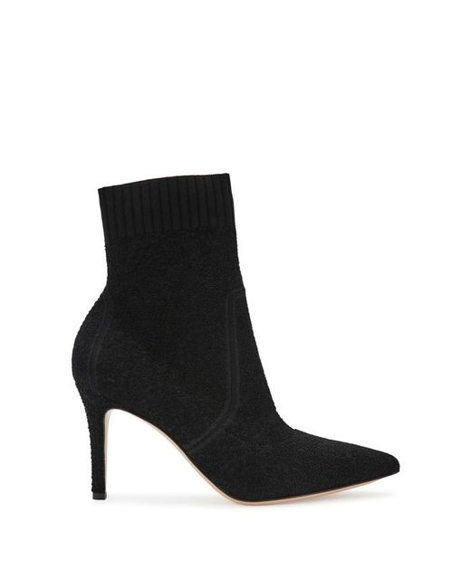 Gianvito Rossi - Fiona 90 Black Stretch-knit Ankle Boots - Lyst