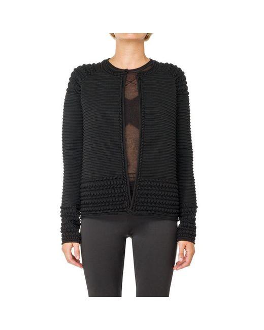 Max Studio - Black Textural High Twist Sweater Jacket - Lyst