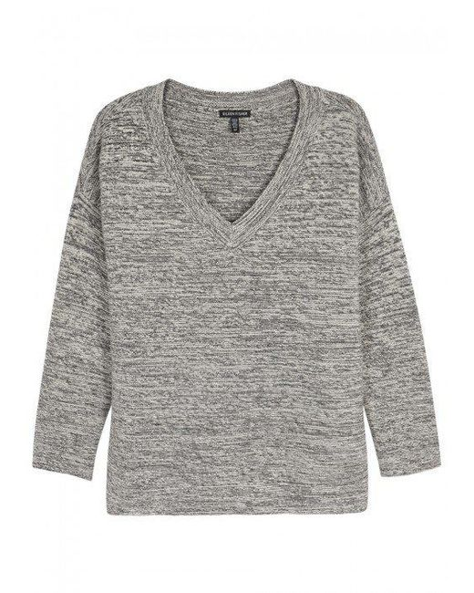 Eileen Fisher | Gray Grey Mélange Knitted Jumper | Lyst