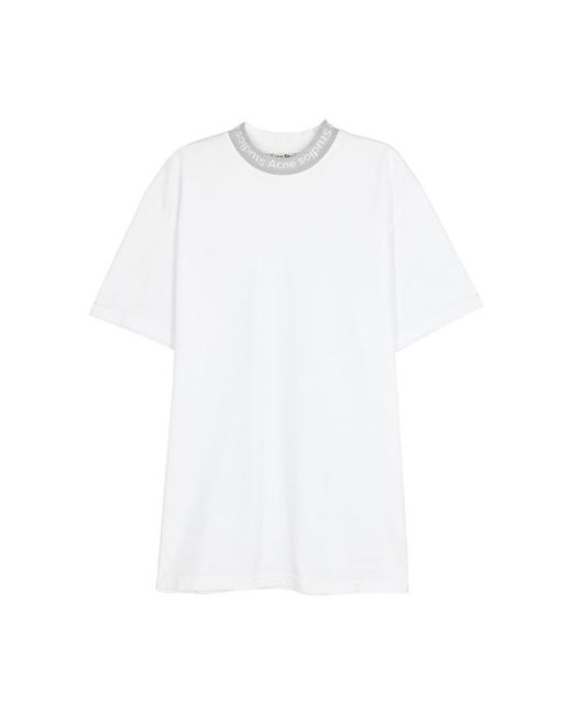 c38aad3818b4 Acne Gojina White Cotton T-shirt in White - Lyst