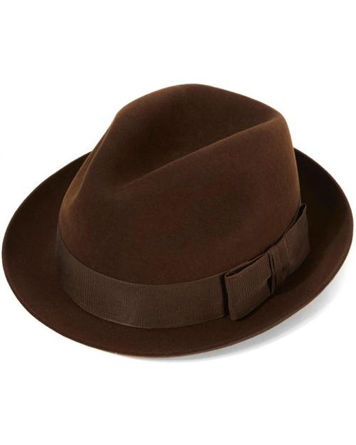 7aa1fa4427f79 Christys  Kent Fur Felt Trilby Hat in Brown for Men - Lyst
