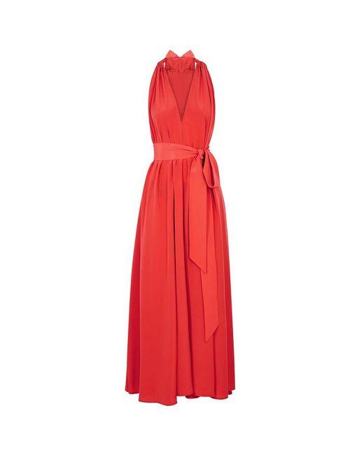 ec48cb52205 Women's Orange Camille Reversible Silk Maxi Dress