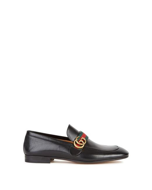 Gucci - Donnie Black Leather Loafers for Men - Lyst