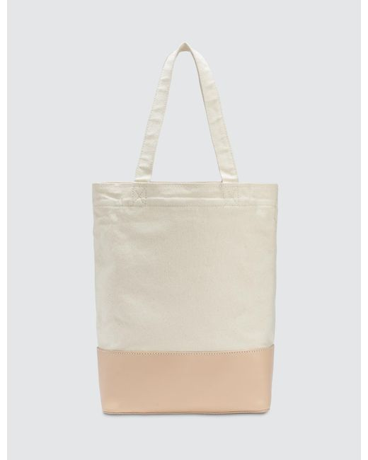 Axel Tote Bag in Kaki Canvas and Smooth Leather A.P.C. kmtXZp