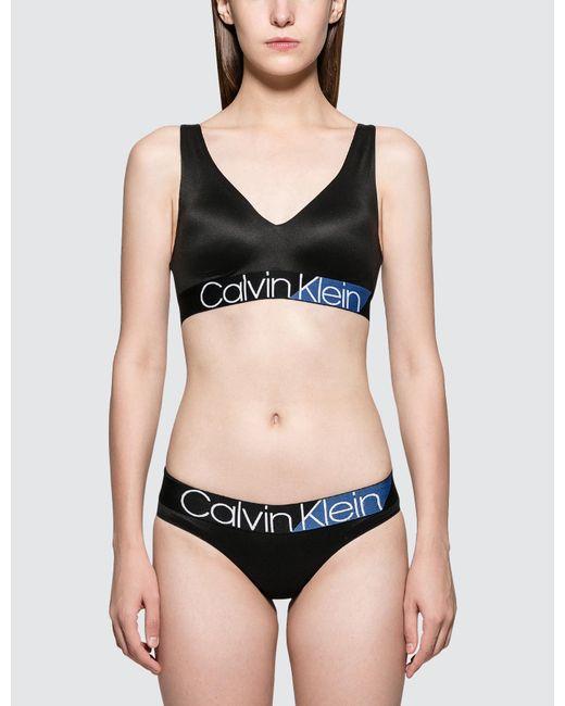 7abad1ea2a Calvin Klein - Black Light Lined Bralette - Lyst ...