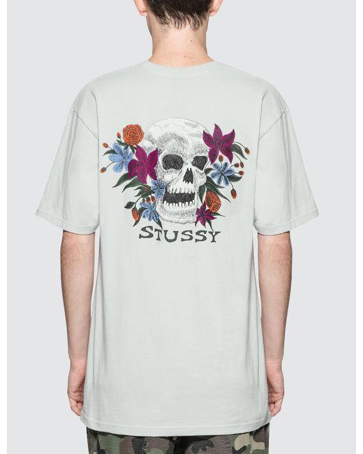 Stussy hippie skull t shirt for men lyst for Hippie t shirts australia