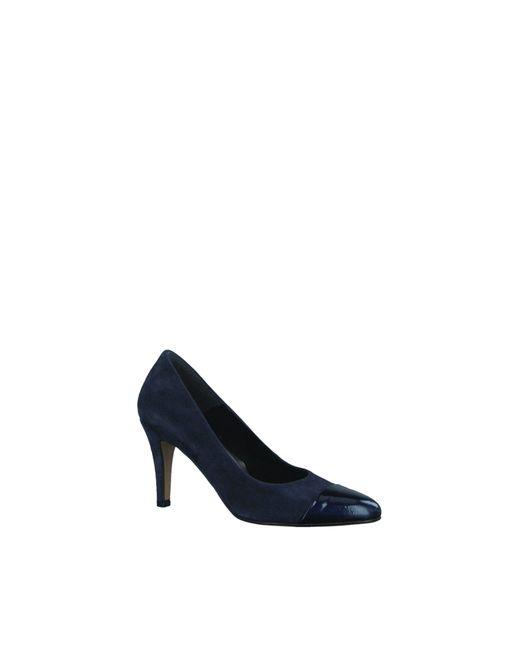 6bd06b0fc93 Tamaris Navy Blue Suede Patent Almond Toe Court Shoe in Blue - Lyst
