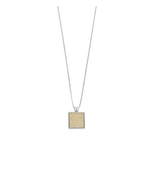 Henri Bendel | Metallic Petal Monogram Flip Pendant Necklace | Lyst