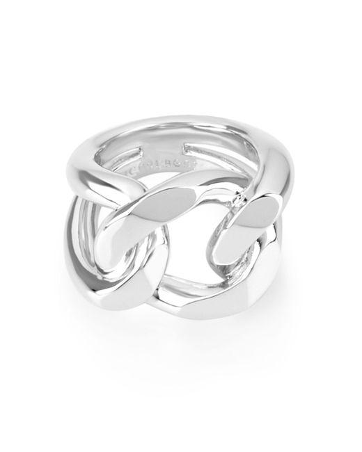 Henri Bendel | Metallic Bendel Metal Link Ring | Lyst