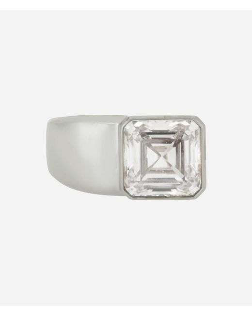 Henri Bendel - Metallic Luxe Modern Asscher Cocktail Ring - Lyst